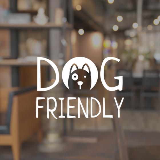 Cafe Shop Window Sign - Dog Friendly