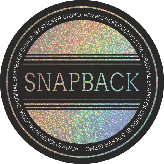 28e206c29234d Personalised Snapback Holographic Stickers - Design 1