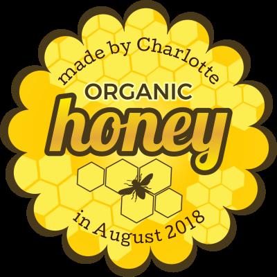 Organic Honey Jar Label