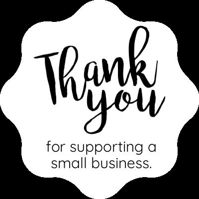 Thank you small business sticker design sticker gizmo