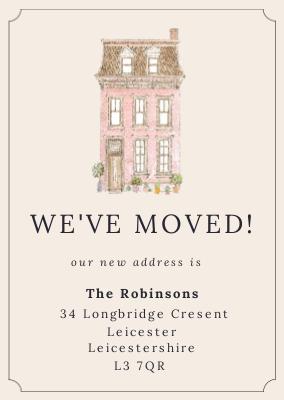 Little House We Ve Moved Postcard Design