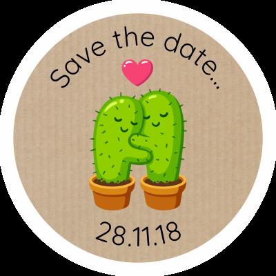Cactus love sticker gizmo
