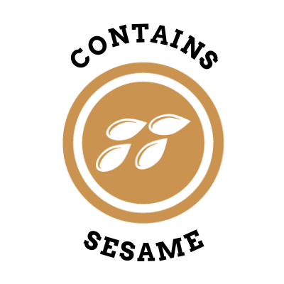 Allergen Label - Contains Sesame |Sticker Gizmo