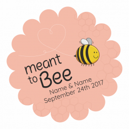 Wedding Labels - Meant to Bee