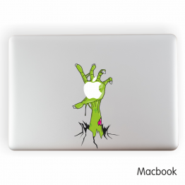 Zombie Vinyl Laptop Sticker