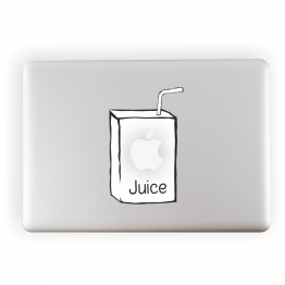 Apple Juice Laptop Vinyl Sticker