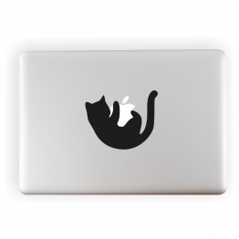 Black Cat Vinyl Laptop Sticker