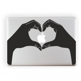 Heart Hands Vinyl Laptop Sticker