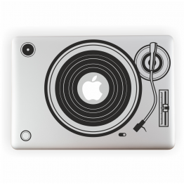 Record Player Vinyl Laptop Sticker