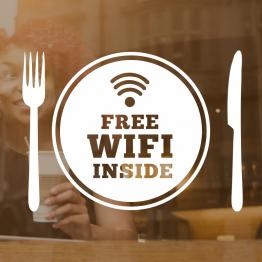 Free Wifi Plate Window Vinyl Sign