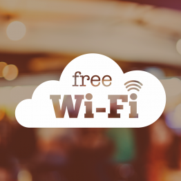 Free Wifi Cloud Window Vinyl Sign