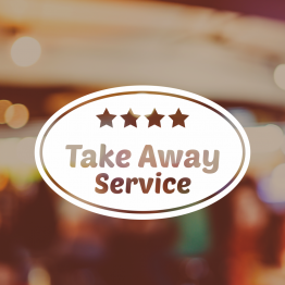 Take Away Window Sign - Take Away Service