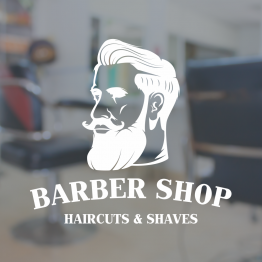 Barber Shop Window Sign - Beard