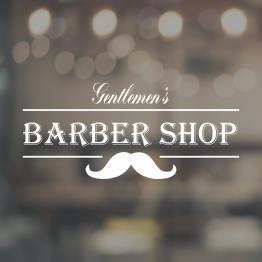 Gentlemen's Barber Shop Window Sign
