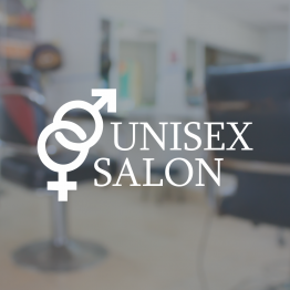 Barber Shop Window Sign - Unisex Salon Symbols