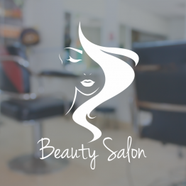 Beauty Salon Window Sign - Face