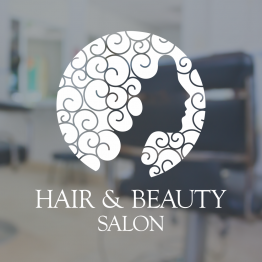 Beauty Salon Window Sign - Curly Hair