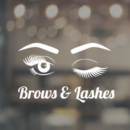 Beauty Salon Window Sign - Brows and Lashes