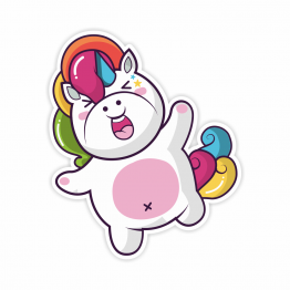 Laughing Unicorn Vinyl Sticker
