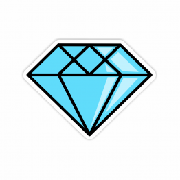 Diamond Vinyl Stickers