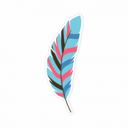 Feather Vinyl Sticker