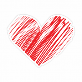 Heart Design 1 Vinyl Sticker