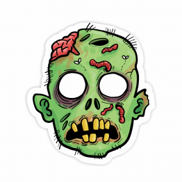Zombie Face Vinyl Sticker