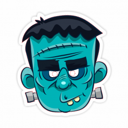 Frankenstein Monster Vinyl Sticker