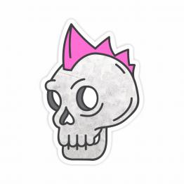 Punk Rocker Skull Vinyl Sticker