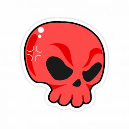 Red Skull Vinyl Sticker