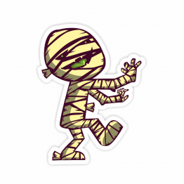 Mummy Vinyl Sticker