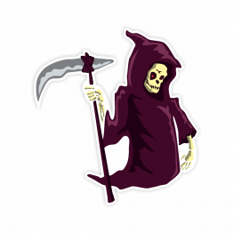 Grim Reaper Vinyl Stickers