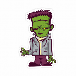 Walking Frankenstein Vinyl Sticker