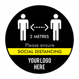 Ensure Social Distance Logo Floor Stickers