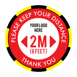 Keep Your Distance Logo Floor Stickers