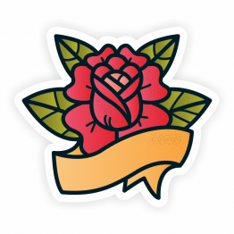 Tattoo Rose Vinyl Sticker
