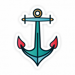 Anchor Vinyl Sticker