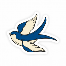 Swallow Tattoo Vinyl Sticker
