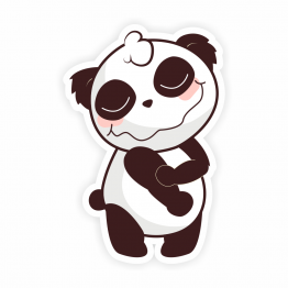 Drunk Panda Vinyl Sticker