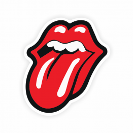 Rock & Roll Tongue Out Vinyl Sticker
