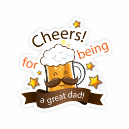 Cheers Dad Beer Vinyl Sticker