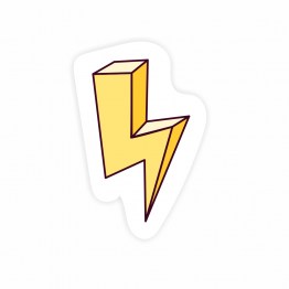Lightening Bolt Vinyl Sticker