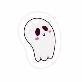 Cute Ghost Vinyl Sticker