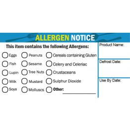 Allergen Tick Label (Medium)
