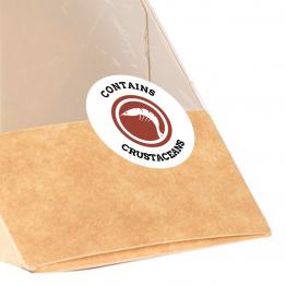 Allergen Label - Contains Crustaceans