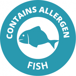 Allergen Labels - Contains Fish - 35mm Single Sheet