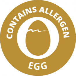 Allergen Labels - Contains Eggs - 35mm Single Sheet
