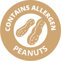 Allergen Labels - Contains Peanuts - 35mm Single Sheet
