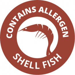 Allergen Labels - Contains Crustaceans - 35mm Single Sheet
