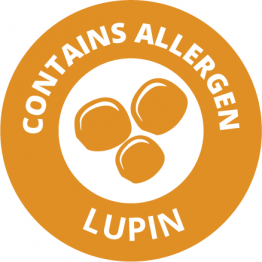 Allergen Labels - Contains Lupin - 35mm Single Sheet